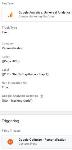 Create an Google Analytics Event Tag in Google Tag Manager Tag