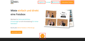 Improved menubar on homepage