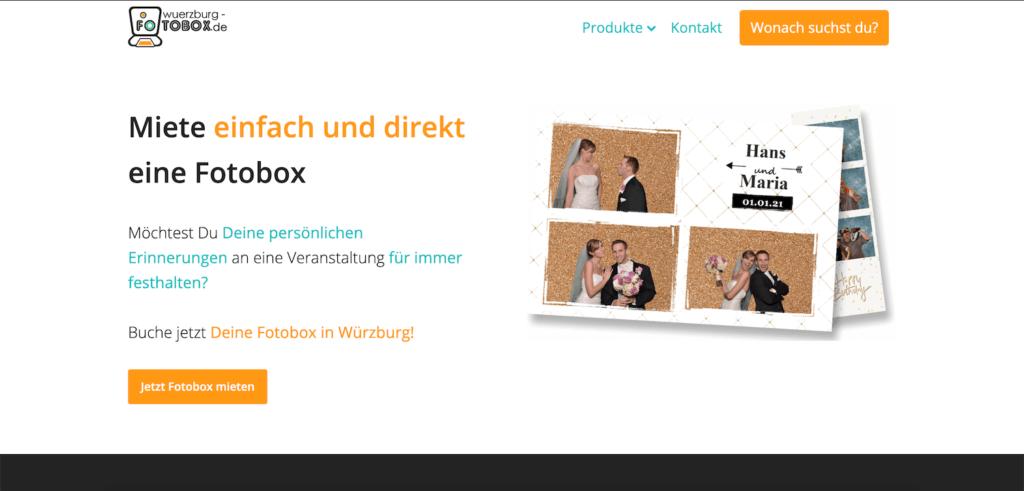Original menubar on homepage