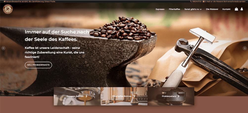 Improved homepage